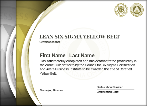 Lean Six Sigma Yellow Belt Certification - Six Sigma Online