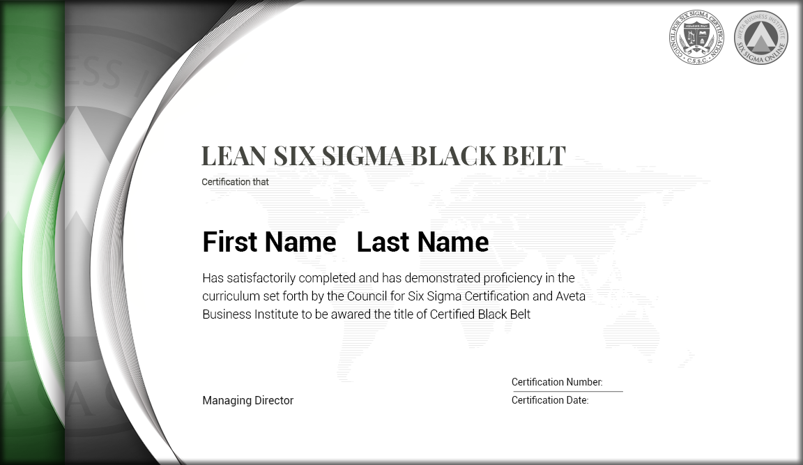 Lean Six Sigma Yellow Belt To Black Belt Certification Six Sigma