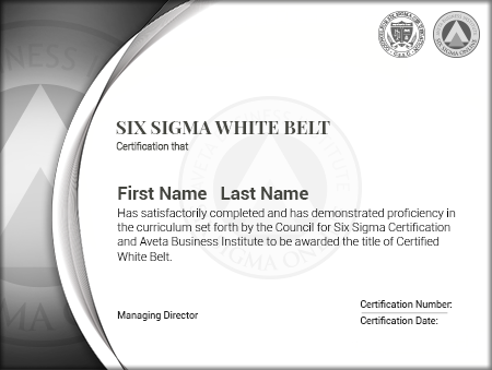 Six Sigma White Belt Certification - Six Sigma Online Certification ...
