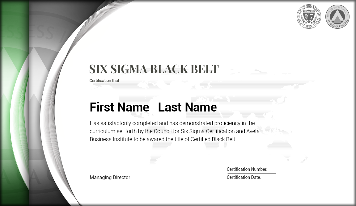Six Sigma Green Belt To Black Belt Certification Six Sigma Online