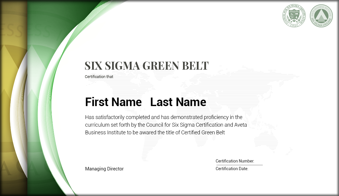 Green belt certification images editable certificate for Green belt certificate template
