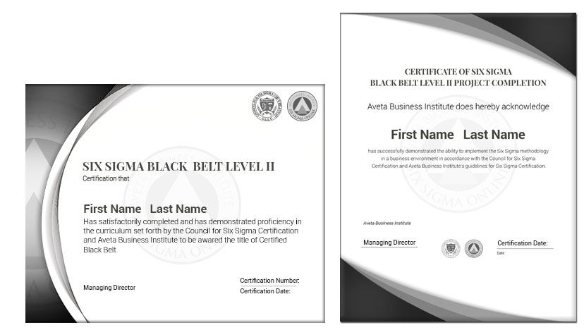 Six Sigma Black Belt II Certification - Six Sigma Online ...