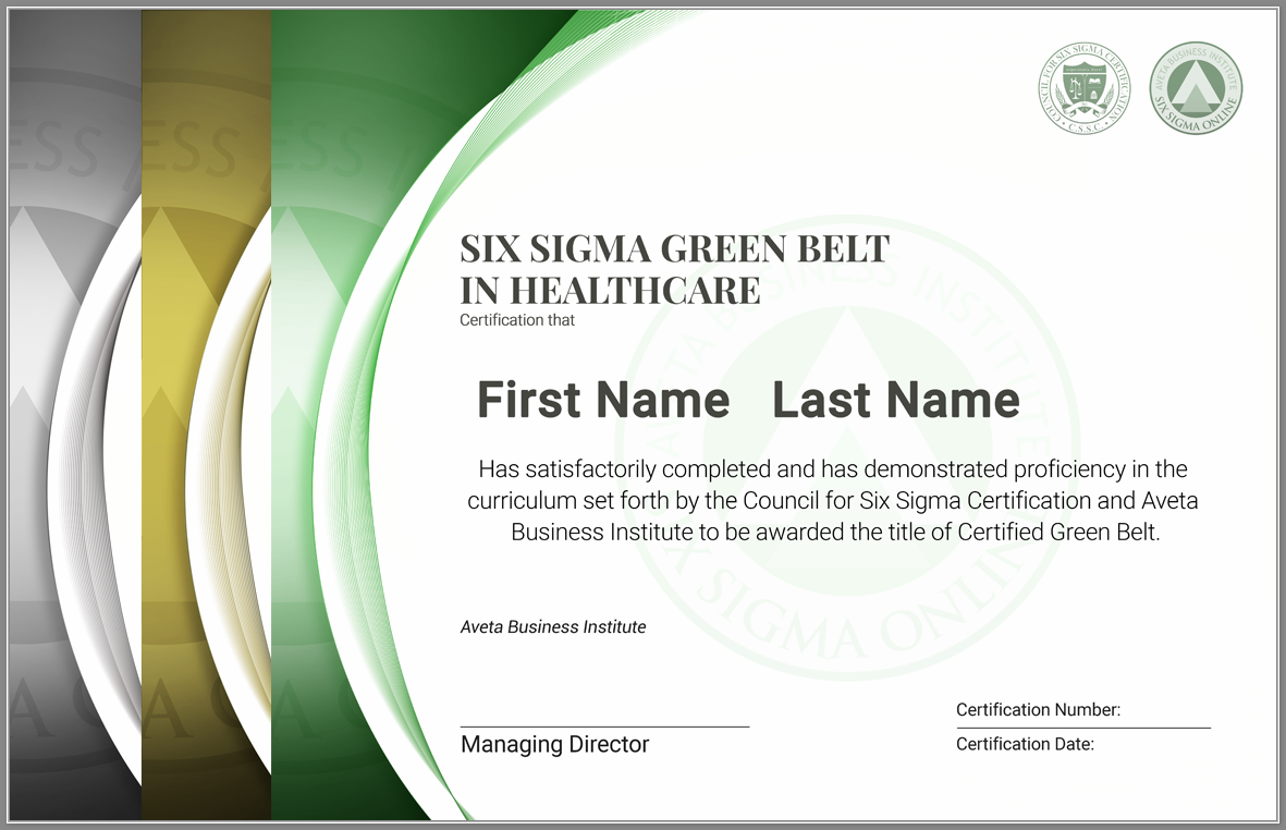 Six Sigma Green Belt Certification In Healthcare Six Sigma Online