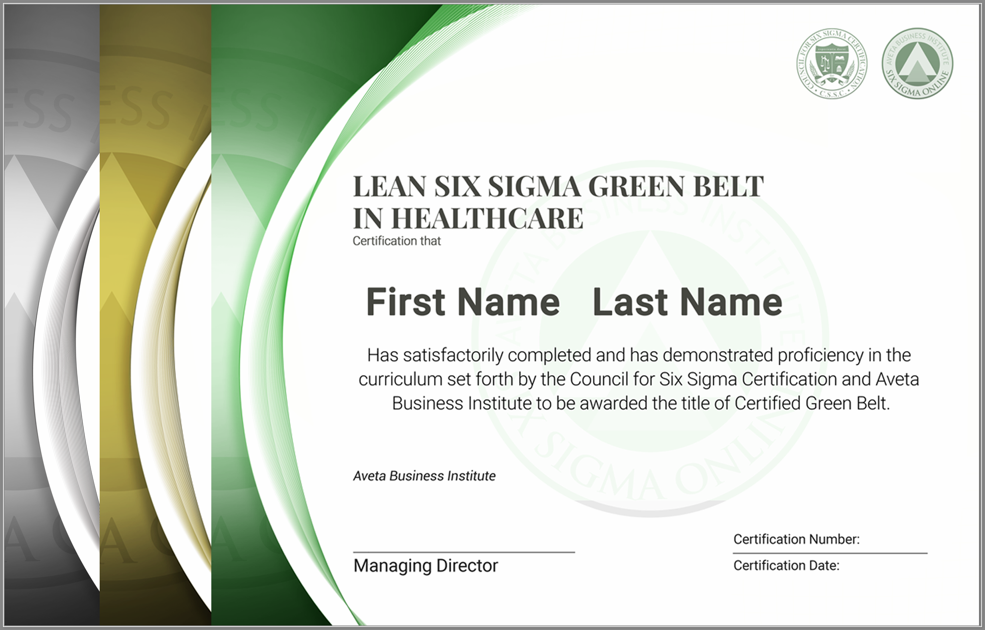 Six sigma green belt training cannot be!