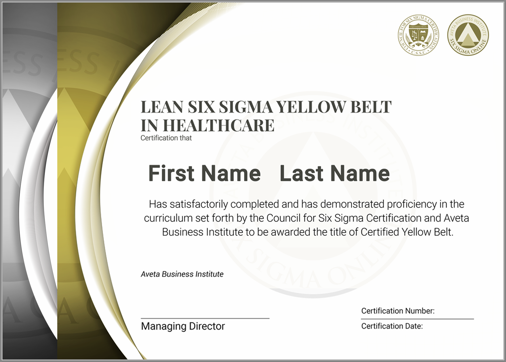 Lean Six Sigma Yellow Belt Certification in Healthcare